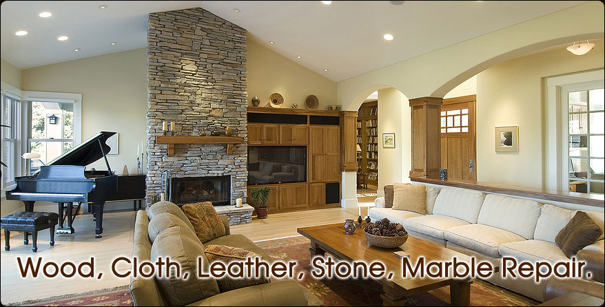 Leather, cloth, wood, stone, marble repair.