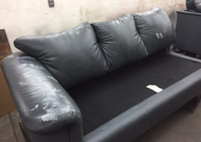 Damaged Leather Sectional
