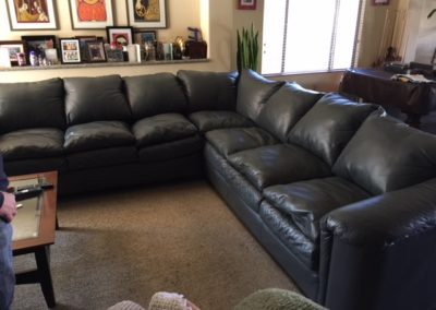 After Leather Couch Repair